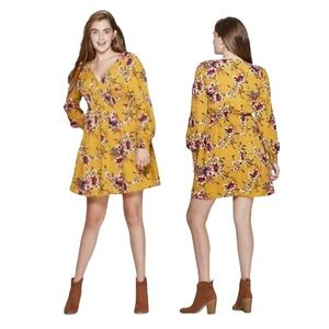 Xhilaration Smocked Waist Floral Mini Dress